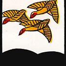 3 gelbe Vögel von TheWhiteBear