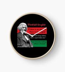 Frederick Douglass zitiert Pan African Flag Black History Uhr