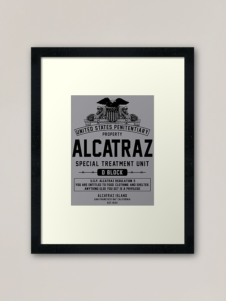 Alternate view of ALCATRAZ S.T.U. Framed Art Print
