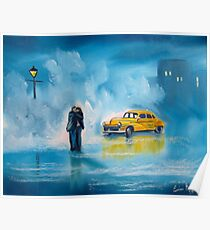 The reunion RAINY DAY COUPLE YELLOW TAXI CAB  Poster