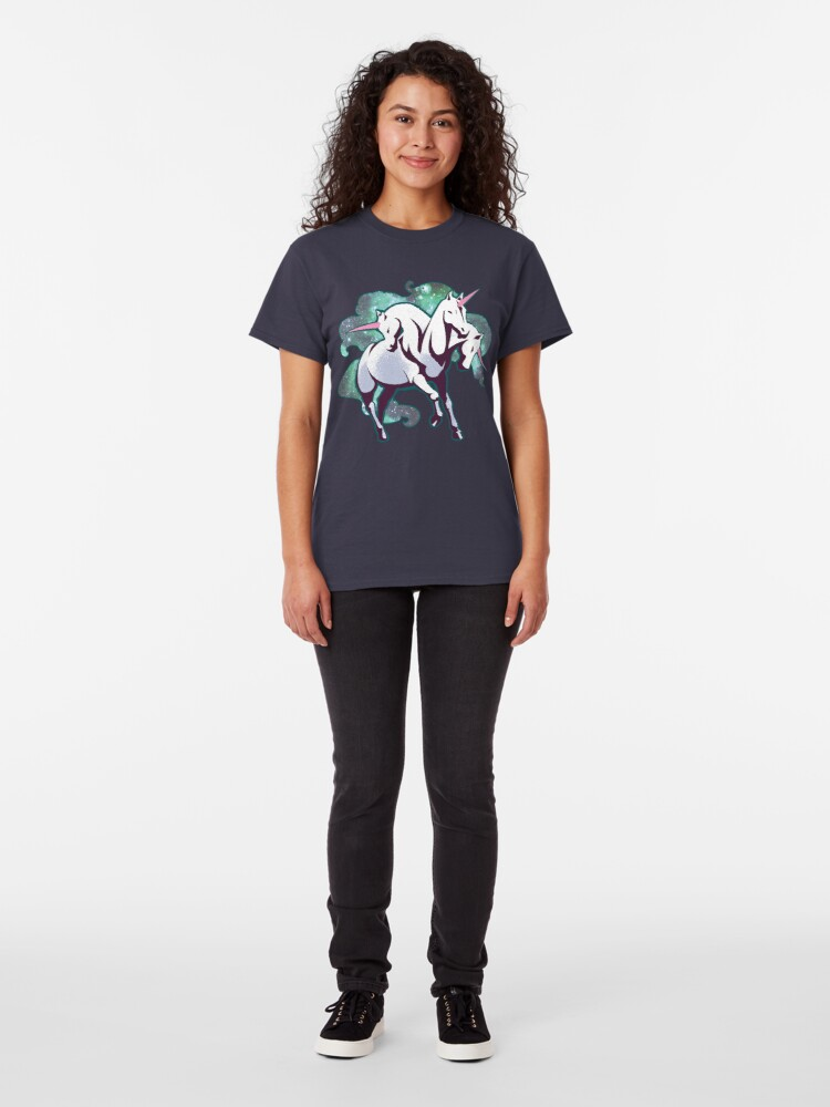 Alternate view of 3 headed unicorn Classic T-Shirt