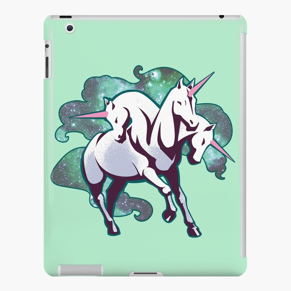 3 headed unicorn iPad Case & Skin