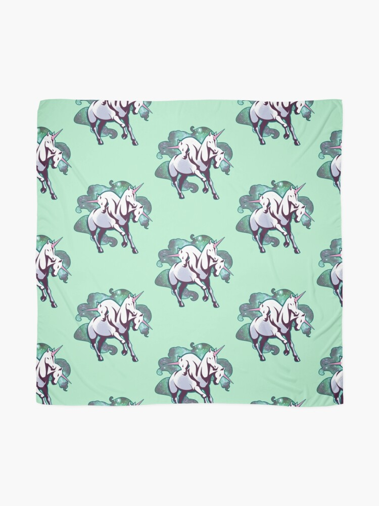 Alternate view of 3 headed unicorn Scarf