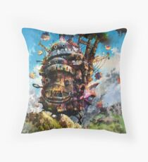 howl's moving castle Throw Pillow