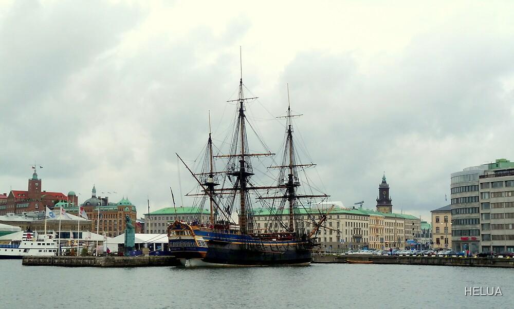 "The City of Gothenburg & East Indiaman ""Götheborg"" by HELUA"
