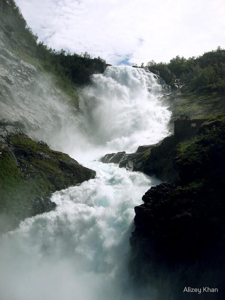 Waterfall - Kjosfossen, Norway by Alizey Khan