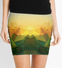 Sunrise Polygon Art Mini Skirt