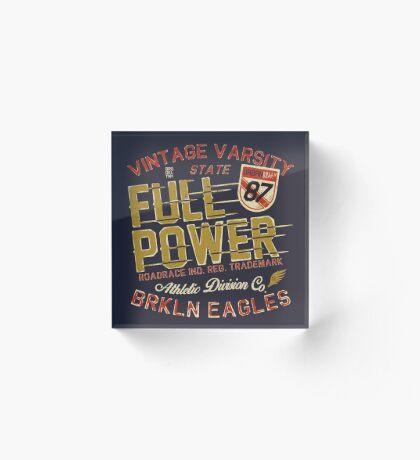 Full Power Brooklyn Eagles Acrylic Block