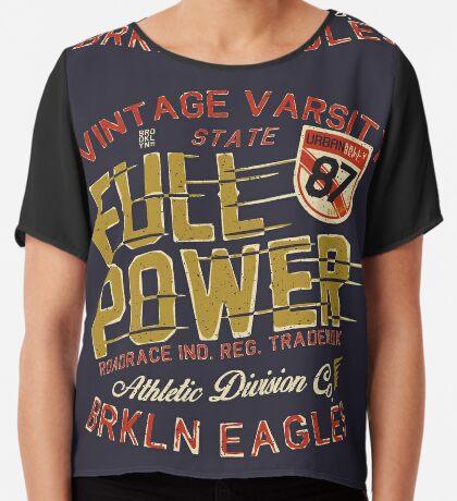 Full Power Brooklyn Eagles Chiffon Top