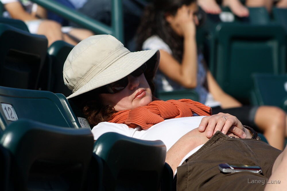 Boring Tennis Match? by Laney Lane