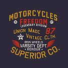 Motorcycles Freedom Iron Wheels by Chocodole