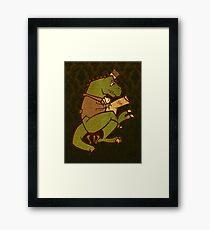 Gentleman T-Rex Framed Print