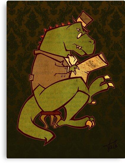 Gentleman T-Rex by WheelOfFortune
