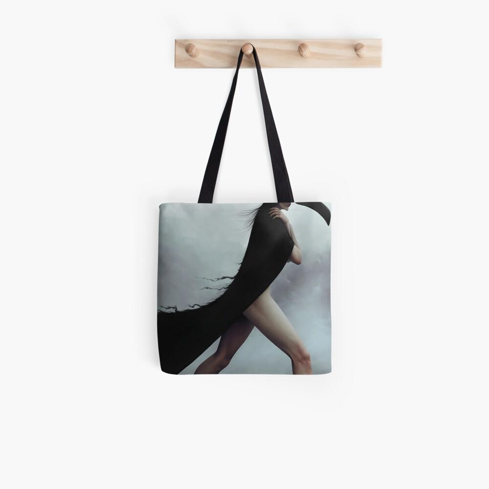 Dark noir crow illustration Tote Bag