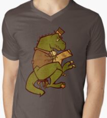 Gentleman T-Rex Men's V-Neck T-Shirt