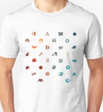 Super Smash Brothers Emblems Unisex T-Shirt