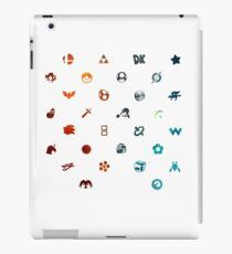 Super Smash Brothers Emblems iPad Case/Skin