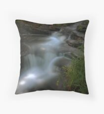 The Retreating Waterfall Throw Pillow