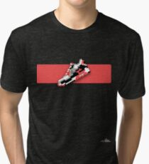 8-bit running shoe T-shirt Tri-blend T-Shirt