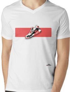 8-bit running shoe T-shirt Mens V-Neck T-Shirt