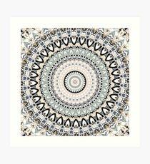 Black and Pastel Mandala Art Print