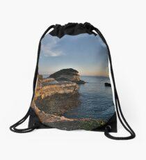 The cliffs of the rising sun Drawstring Bag