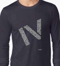 Cement splatter Roman numeral 4 T-shirt Long Sleeve T-Shirt