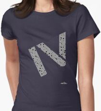 Cement splatter Roman numeral 4 T-shirt Womens Fitted T-Shirt