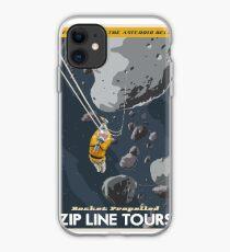 Zipline through the Asteroid Belt iPhone Case