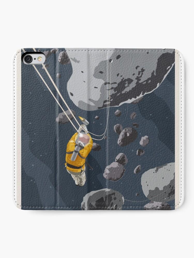 Alternate view of Zipline through the Asteroid Belt iPhone Wallet