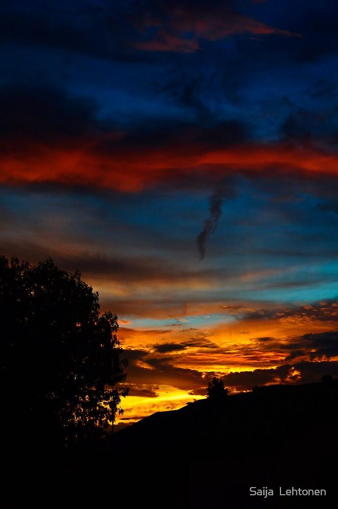 Red Cloud Sunset by Saija  Lehtonen