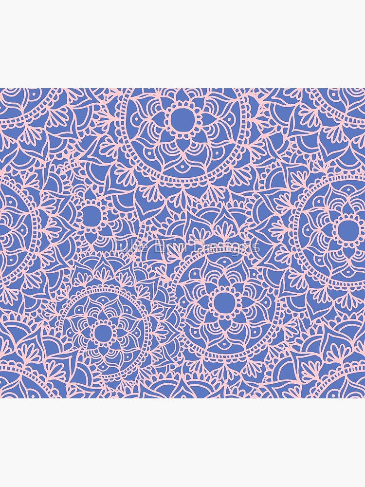 Pink and Mauve Mandala Pattern by julieerindesign
