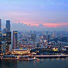 singapore skyline by litzlimgo