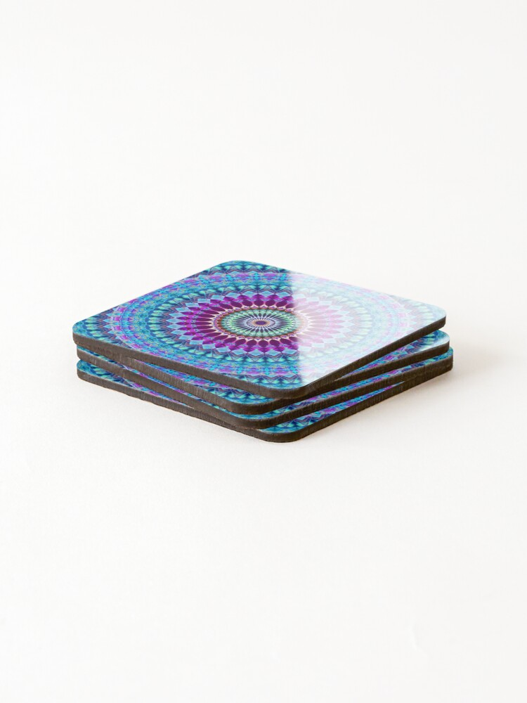 Alternate view of Geometric Mandala Coasters (Set of 4)