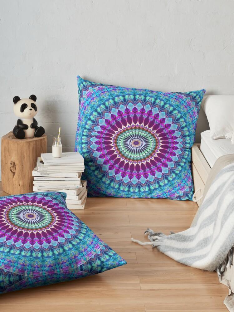 Alternate view of Geometric Mandala Floor Pillow