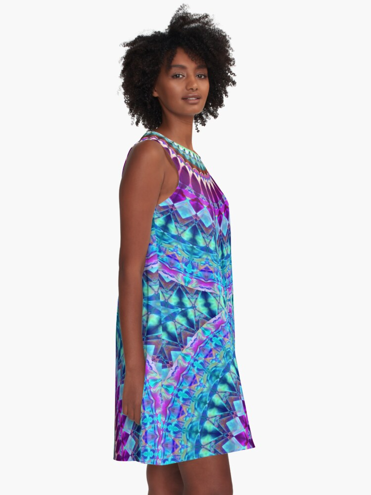 Alternate view of Geometric Mandala A-Line Dress