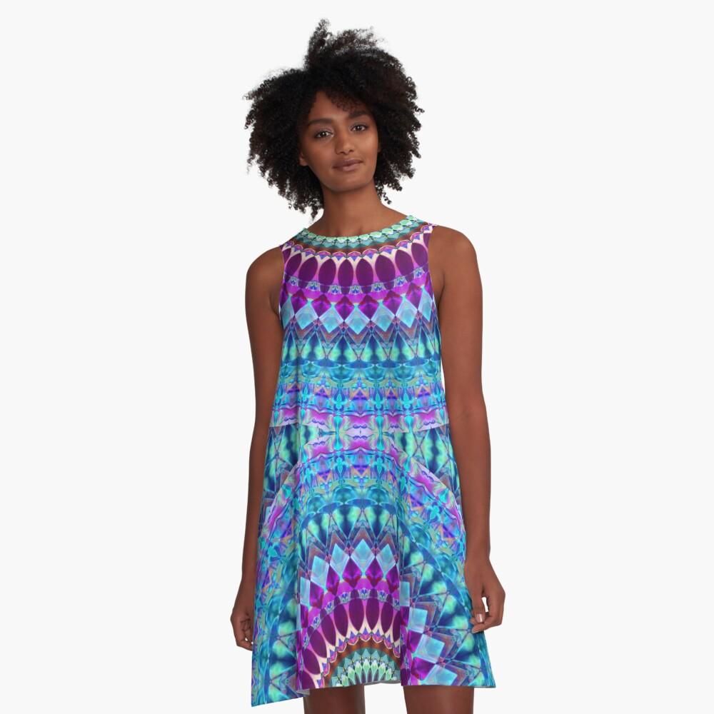 Geometric Mandala A-Line Dress