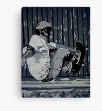 Grabbing Air Canvas Print