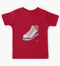 3D 8-bit basketball shoe 3 Kids Tee