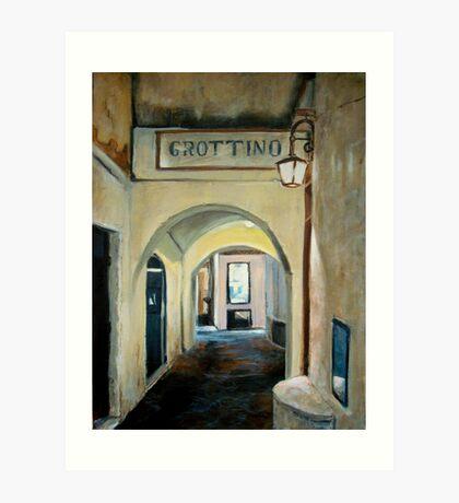 Tonight we go to Grottino's Art Print
