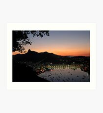 Rio De Janeiro Sunset Art Print
