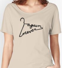 Never Again Coat Hanger Relaxed Fit T-Shirt