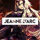 Jeanne mit transparentem Text von James G