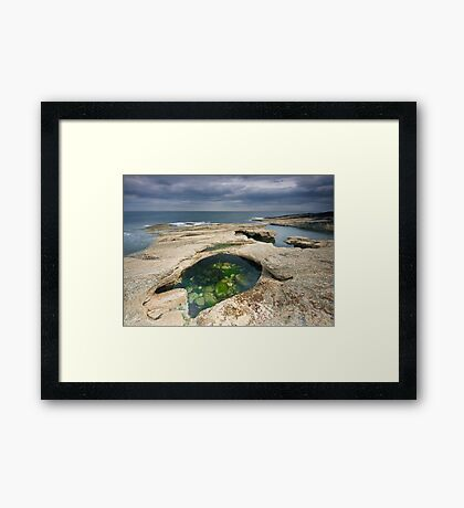 Rock Pool At Howick Bay Framed Print