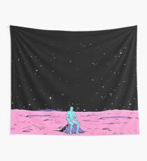 (Fixed) Dr. Manhattan sitting on mars (comic) Wall Tapestry