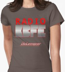 Radio KBFE on Various Colours Women's Fitted T-Shirt
