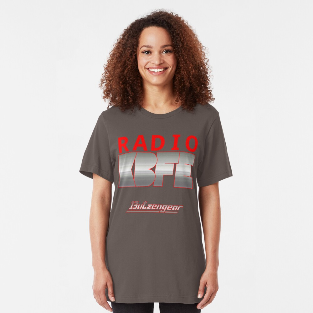 Radio KBFE on Various Colours Slim Fit T-Shirt