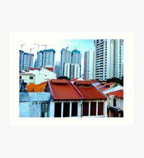 """Lines of Singa"", Singapore, Art Print"