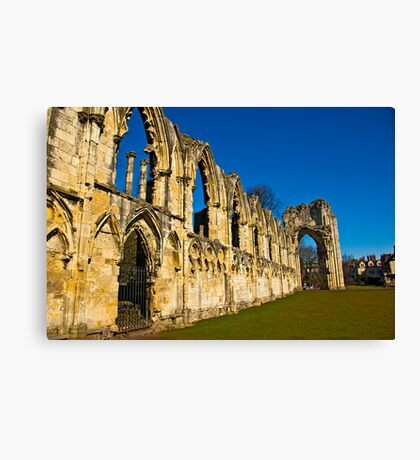 Ruins of St Mary's Abbey  -  York #3 Canvas Print