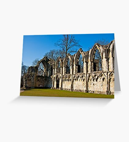 Ruins of St Mary's Abbey  -  York #4 Greeting Card
